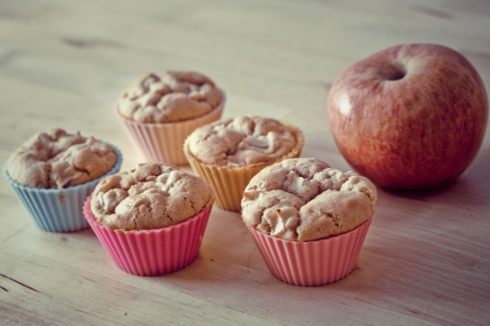 vegan apple muffin