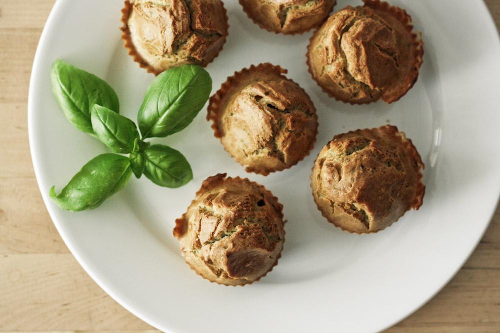 muffins salati al pesto